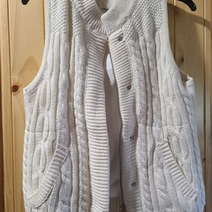 Maurices cable knit vest